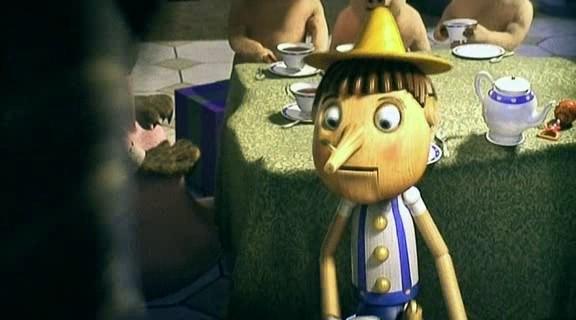 Шрек-3. Пиноккио врет и не краснеет.