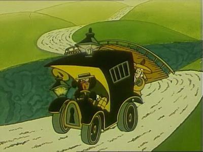Машина гениального сыщика - один фонарь