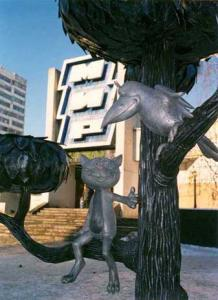 Памятник Котенку с улица Лизюкова в Воронеже