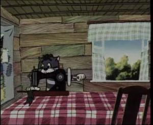 Матроскин и швейная машинка для левшей