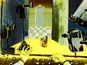 Кот поет в студии