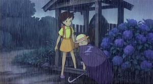 Зонтик с серой ручкой