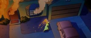 Дом Симпсонов горит