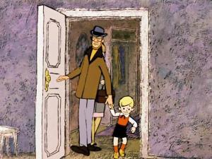 Дверь открыта внутрь комнаты