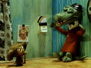 Чебушка не смог прочитать телеграмму.