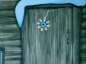 Дверь со снежинкой