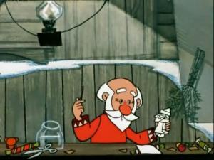 Дед Мороз не раскрашен