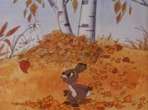 Заяц Коська, листья все падают...